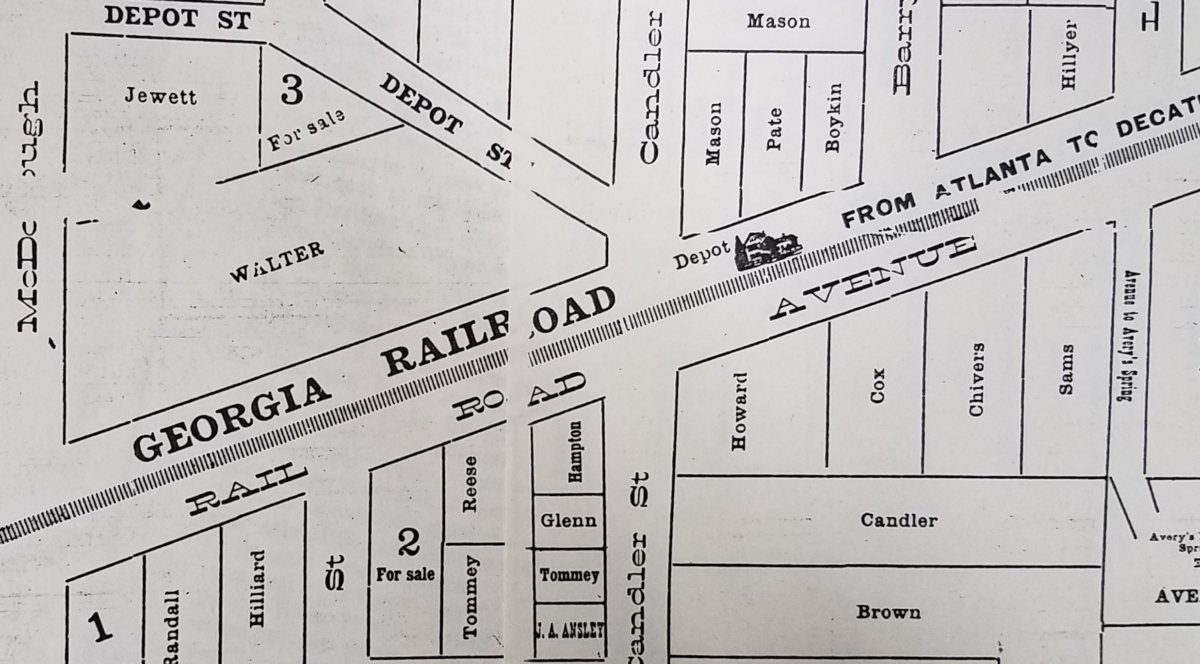 old decatur map RR