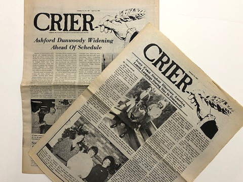 DHC Collections: Dunwoody Crier Newspaper