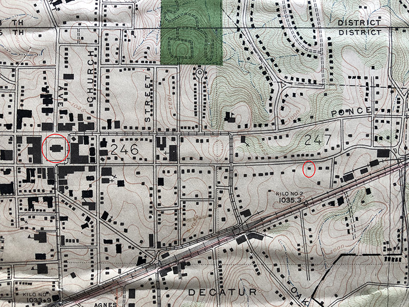 1928 Topographical Map of Decatur GA