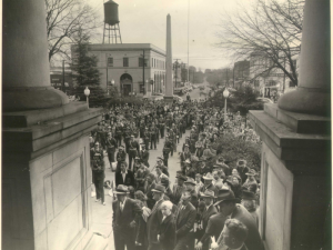 DHC Blog: Public gathering at the DeKalb County Courthouse 1950
