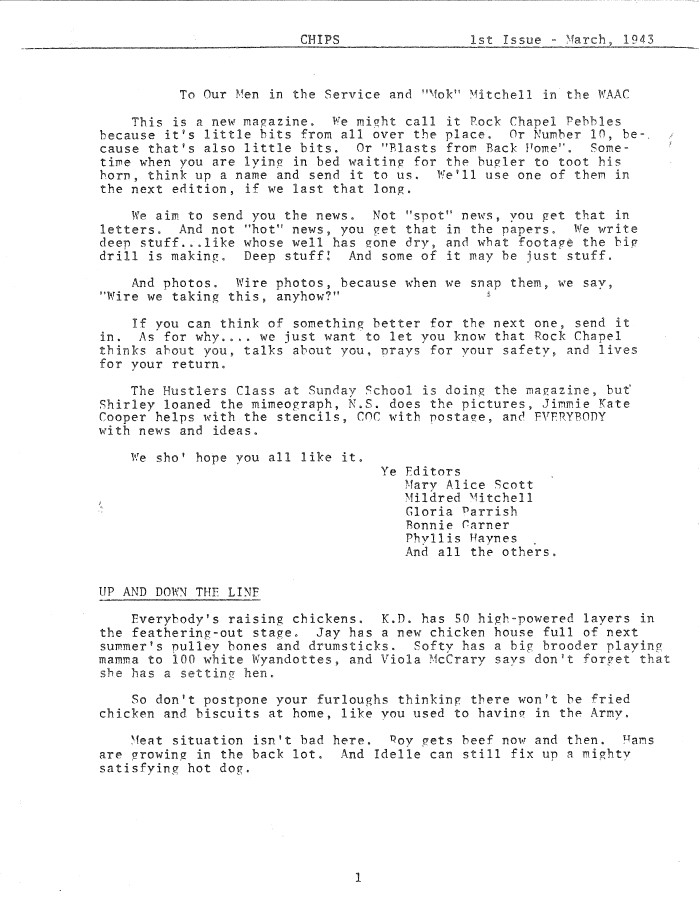 DHC Blog: WWII Newsletters