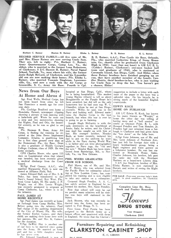 DHC Blog: Newsletters WWII